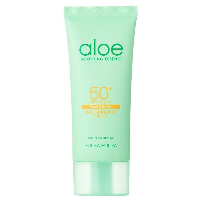 Holika Holika - Aloe Waterproof Sun Gel SPF50+/PA++++ - Łagodzący Krem z Filtrem Przeciwsłonecznym