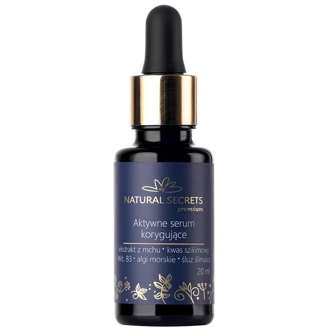Natural Secrets - Glow Serum - Aktywne Serum Korygujące