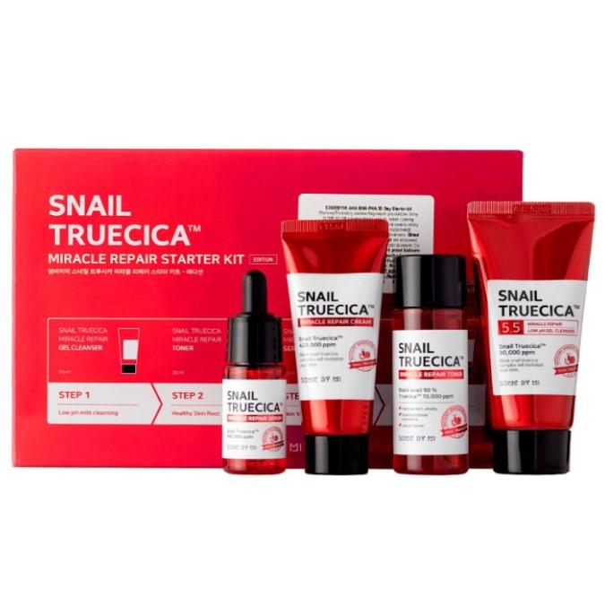 Some By Mi - Snail Truecica Miracle Repair Starter Kit - Zestaw Kosmetyków dla Skóry Problematycznej