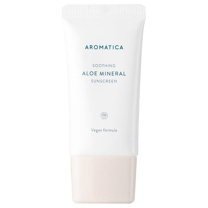 Aromatica - Aloe Mineral Sunscreen SPF50/PA++++ - Krem Nawilżający z Mineralnym Filtrem Przeciwsłonecznym