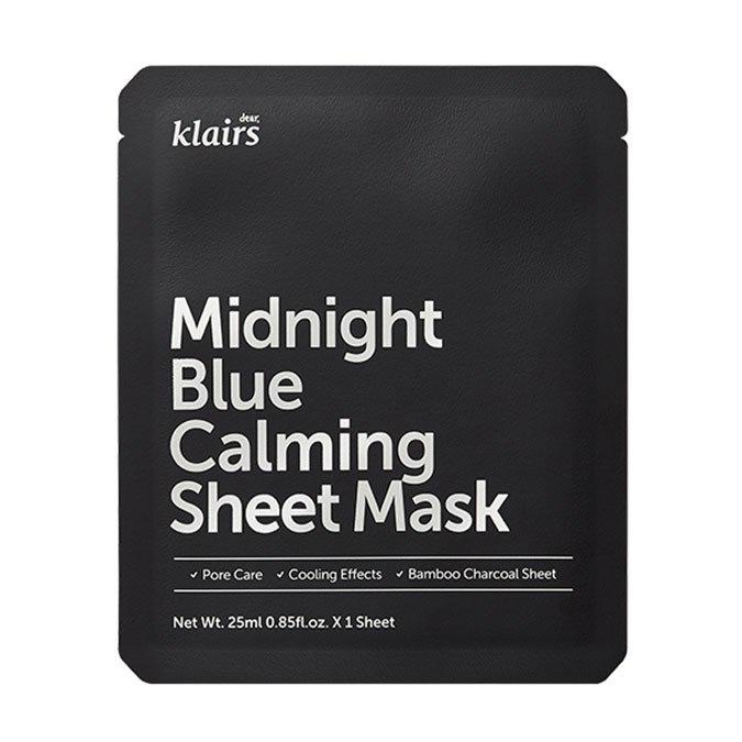 Klairs - Midnight Blue Calming Sheet Mask - Kojąca Maska w Płachcie