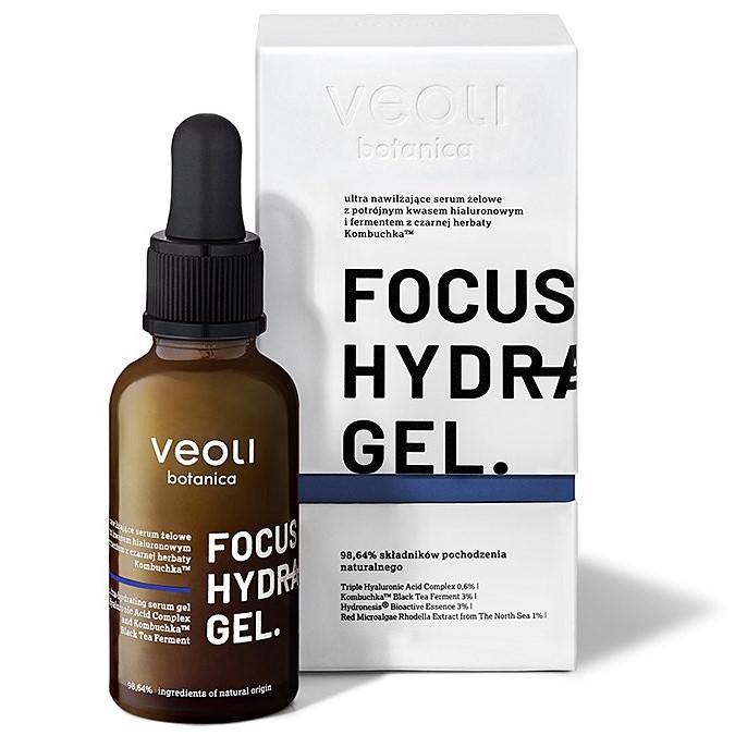 Veoli Botanica - Focus Hydration Gel - Ultra Nawilżające Serum Żelowe z Potrójnym Kwasem Hialuronowym i Fermentem z Czarnej Herbaty Kombuchka