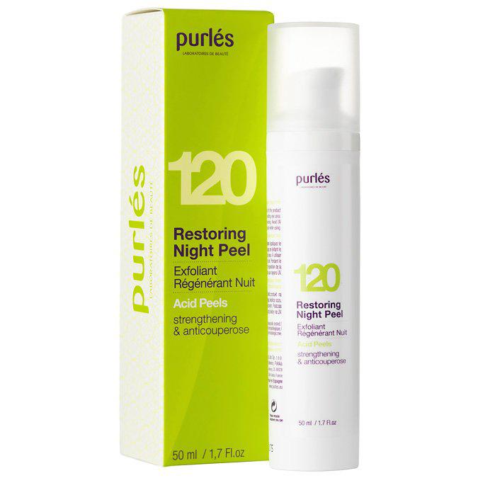 Purles - 120 Restoring Night Peel - Eksfoliujący Krem Wzmacniający