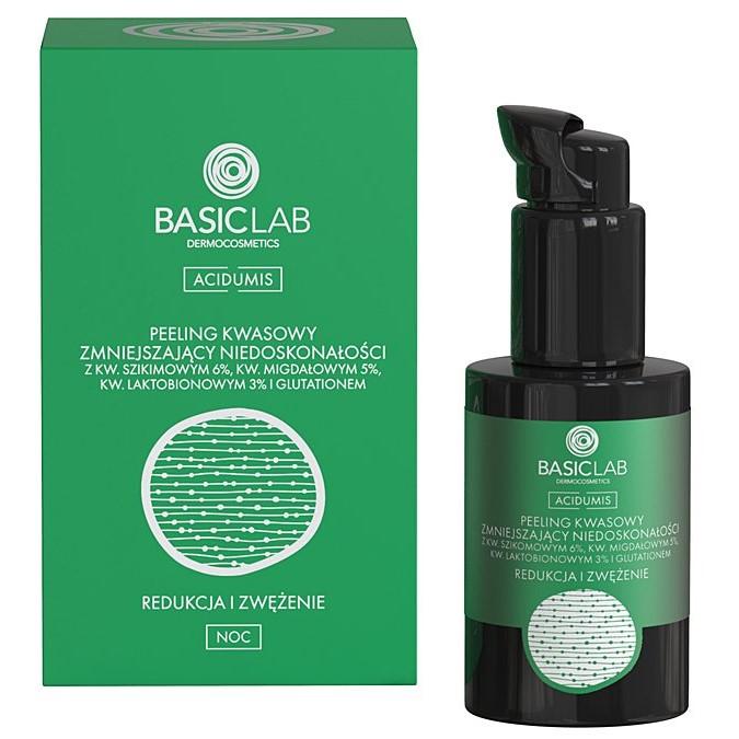 BasicLab - Acidumis - Redukcja i Zwężenie - Peeling Kwasowy Zmniejszający Niedoskonałości