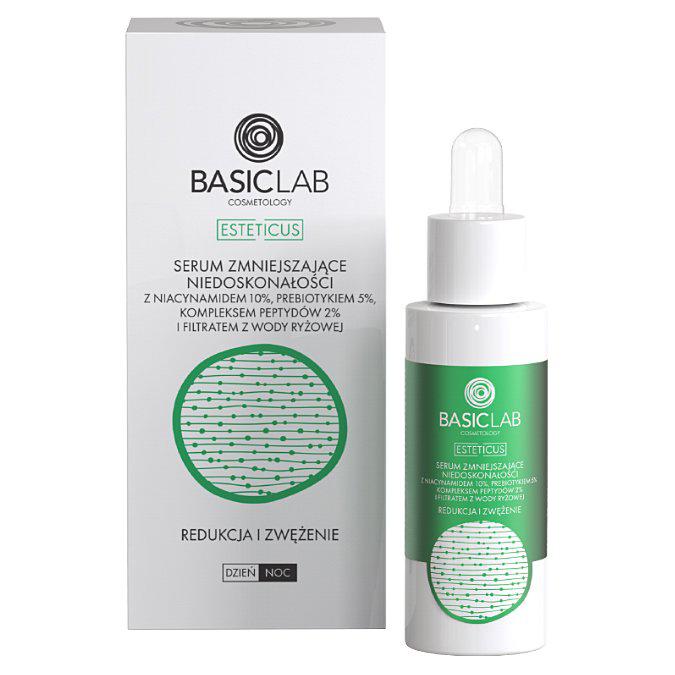 BasicLab - Esteticus - Redukcja i Zwężenie - Serum Zmniejszające Niedoskonałości z 10% Niacynamidem