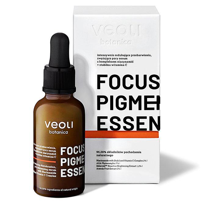 Veoli Botanica - Focus Pigmentation Essence - Intensywnie Redukujące Przebarwienia oraz Zwężające Pory Serum z Kompleksem Niacynamid + Stabilna Witamina C