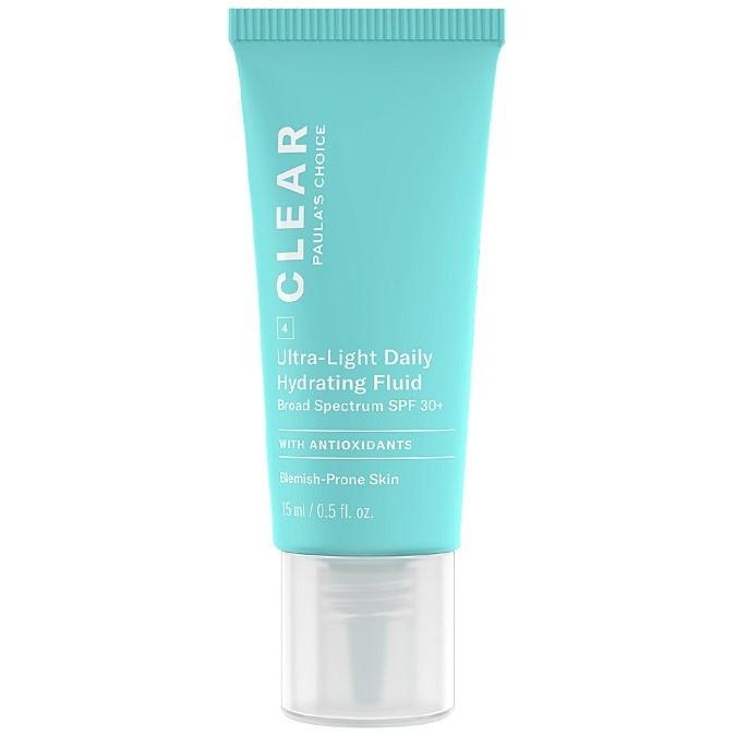 Paula's Choice - Clear - Ultra-Light Daily Hydrating Fluid SPF30+ - Nawilżająca Emulsja Przeciwsłoneczna