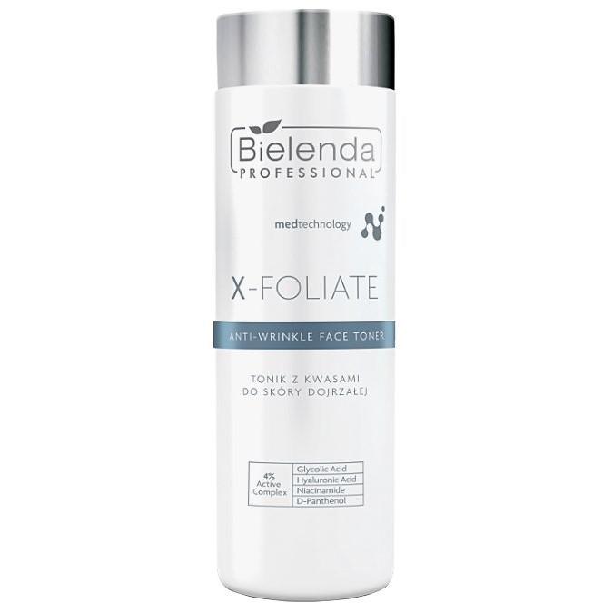 Bielenda Professional - X-Foliate Anti-Wrinkle Face Toner - Tonik Kwasowy do Skóry Dojrzałej