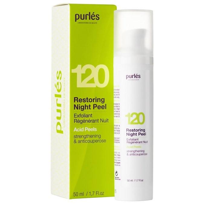 Purles - 120 Restoring Night Pee; - Eksfoliujący Krem Wzmacniający