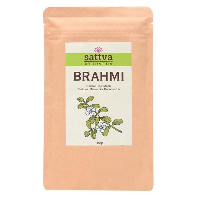 Sattva - Brahmi Herbal Hair Mask - Proszek - Maska z Liści Brahmi