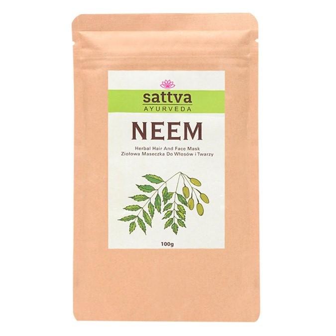 Sattva - Neem Herbal Hair and Face Mask - Proszek - Maska Neem do Twarzy i Włosów