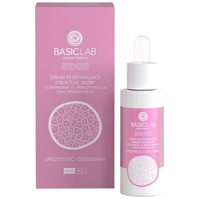 Basiclab - Esteticus - Sprężystość i Odbudowa - Serum Regenerujące Strukturę Skóry z Ceramidami 1%