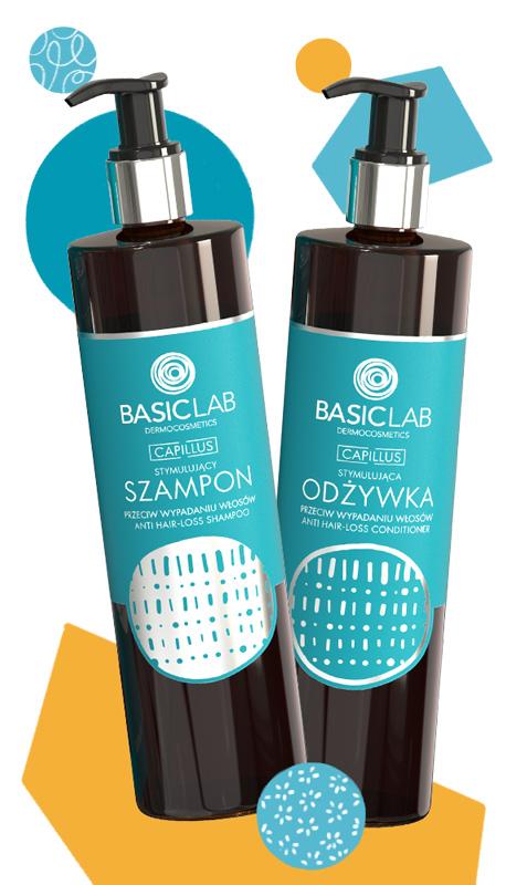 basiclab włosy osłabione wypadanie szampon odżywka