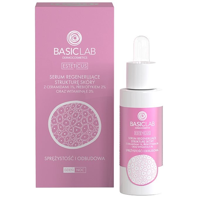 BasicLab - Serum Regenerujące Strukturę Skóry z Ceramidami 1%
